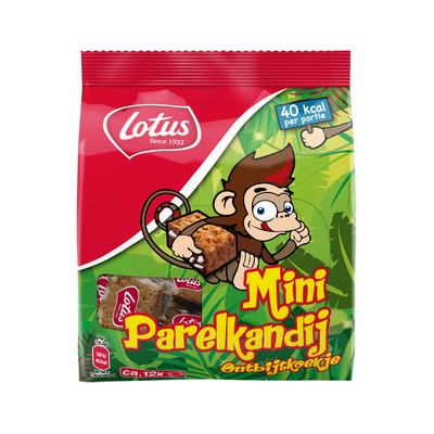 Lotus Mini parelkandij koekjes aap