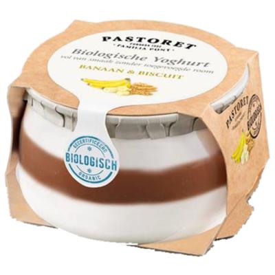 Pastoret Biologische yoghurt banaan & biscuit