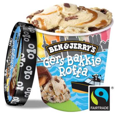 Ben&Jerry's Rotterdam Gers bakkie Roffa Fairtrade