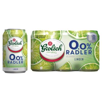 Grolsch 0.0% ABV Radler Limoen Blikken