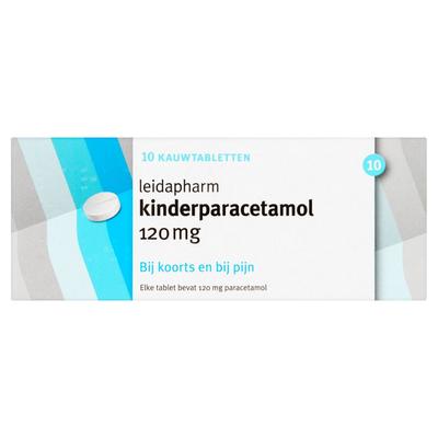 Leidapharm Kinderparacetamol 120 mg 10 Kauwtabletten