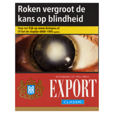 Pall Mall Sigaretten export