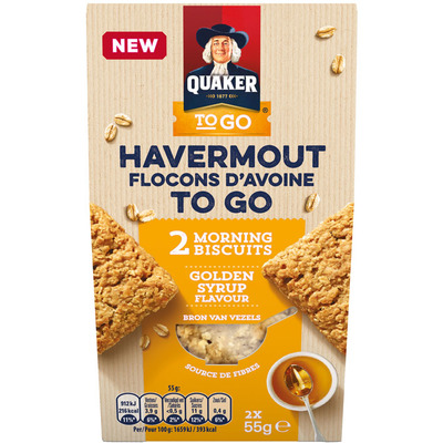 Quaker Havermout to go golden syrup