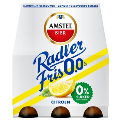 Amstel Radler Fris 0.0 Bier Fles 6 x 30 cl
