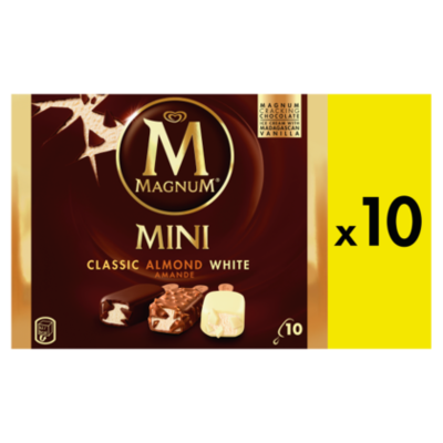 Ola Magnum mini classic almond white 10 st