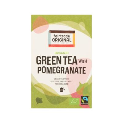 Fairtrade Original Organic Green Tea with Pomegranate 20 Zakjes