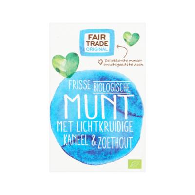 Fair Trade Original Frisse biologische Munt met Kaneel & Zoethout 20 zakjes à