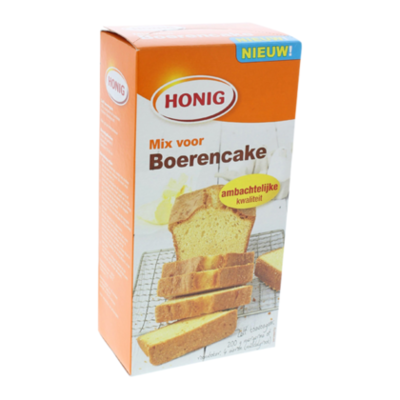 Honig Mix voor volle boerencake