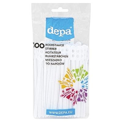 Depa roerstaafjes plastic wit