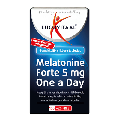 Lucovitaal Melatonine forte 5mg one a day tabletten