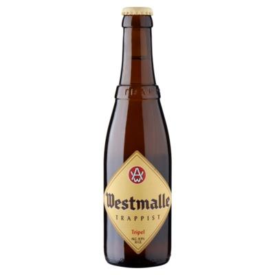 Westmalle trappist tripel fles 33 cl. Incl. €0,10 statiegeld