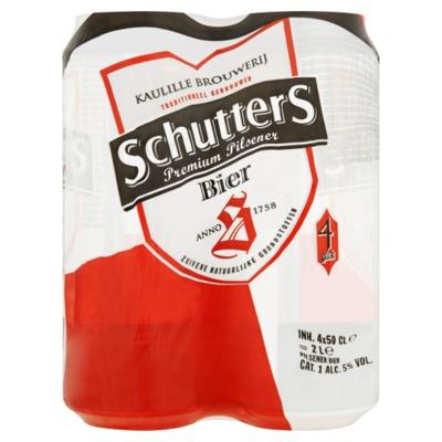 Schutters premium pilsener bier 4x50 cl.