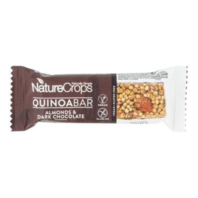 NatureCrops Quinoa bar dark chocolate & almonds