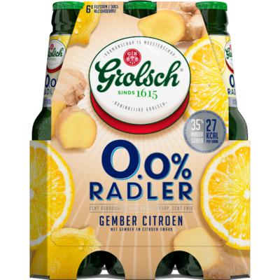 Grolsch Radler gember citroen 0%