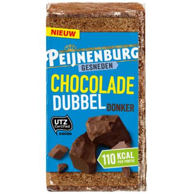 Peijnenburg Ontbijtkoek gesneden chocolade dubbel