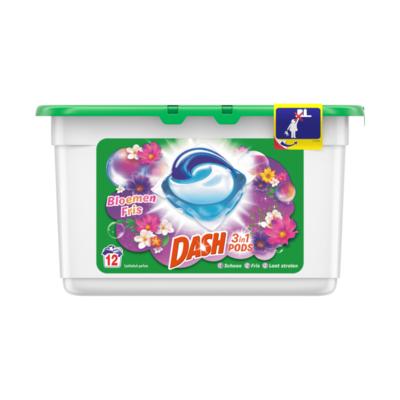 Dash 3 in 1 Pods 12x Met Frisse Kleur Bloemen