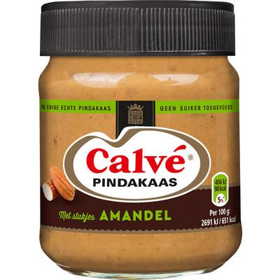 Calvé Pindakaas stukjes amandel