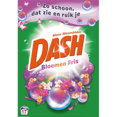 Dash Poeder wasmiddel kleur wilde bloemen 17 wasbeurten