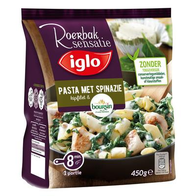 Iglo Roerbaksensatie pasta kipfilet boursin
