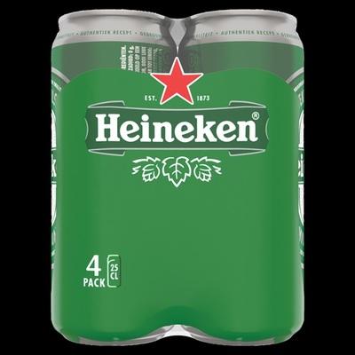 Heineken pils 4x25 cl