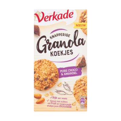 Verkade Knapperige Granola Koekjes Pure Choco & Amandel