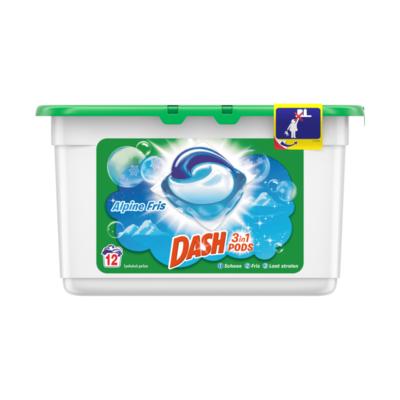 Dash 3 in 1 Pods Alpine 12 Wasbeurten Gebruiksvriendelijk