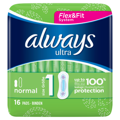 Always Ultra Normal (Maat 1) Maandverband x16