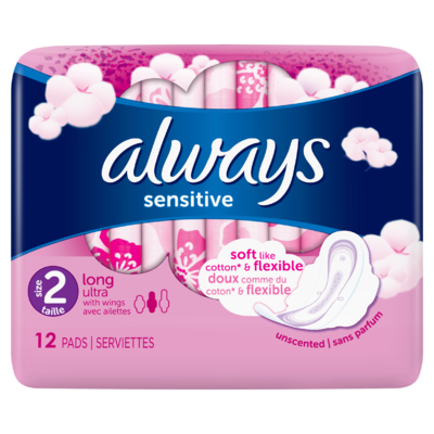 Always Ultra Sensitive Long (Maat 2) Maandverband Vleugels 12 Stuks