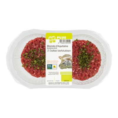 PLUS Beter leven Duitse biefstuk 2st