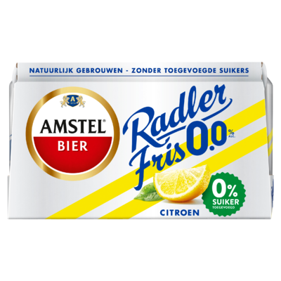Amstel Radler Fris 0.0 Bier Blik 6 x 33 cl