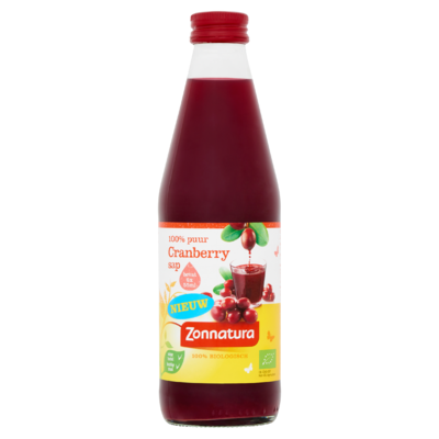 Zonnatura 100% Puur Cranberry Sap 330 ml