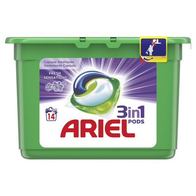 Ariel 3in1 pods fresh sensation purple capsule