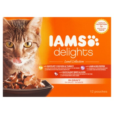 Iams delights land collection 12-pack