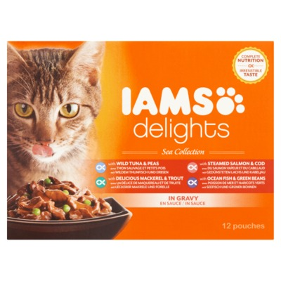 Iams delights sea collection 12-pack
