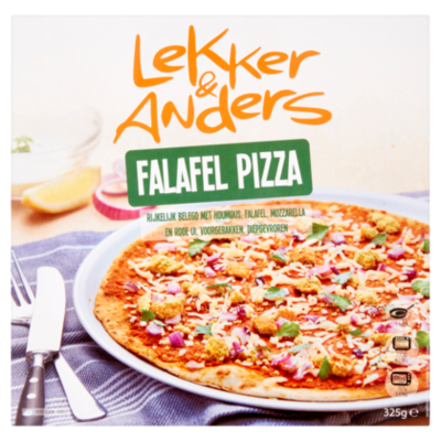 Lekker & Anders Falafel pizza