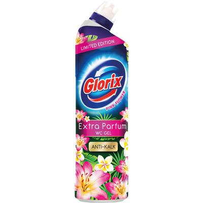 Glorix WC powergel pink flower