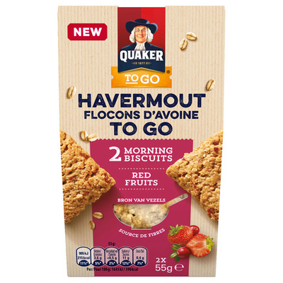 Quaker Havermout to go red fruit
