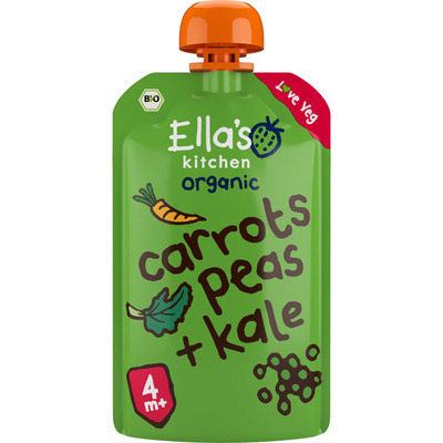 Ella's Kitchen Carrot - peas - 4 mnd+ bio