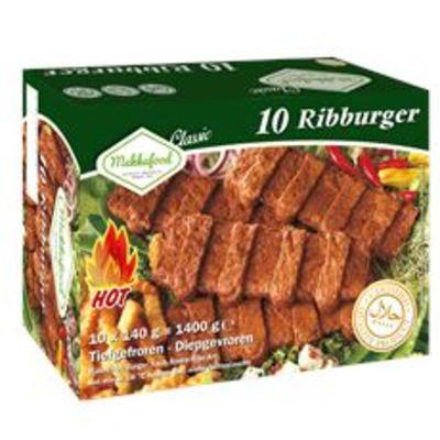 Mekkafood Ribburger 10 x 140 gram