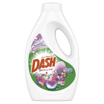 Dash Vloeibaar wasmiddel wilde bloemengeur 19 wasb.