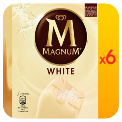 Ola Magnum white 6 stuks