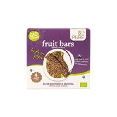 So Pure Bio Fruit&nut bars bosbessen & quinoa 4 stuks