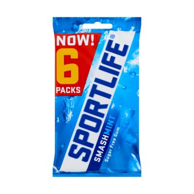 Sportlife Smashmint Suikervrij Kauwgom 6-Pack