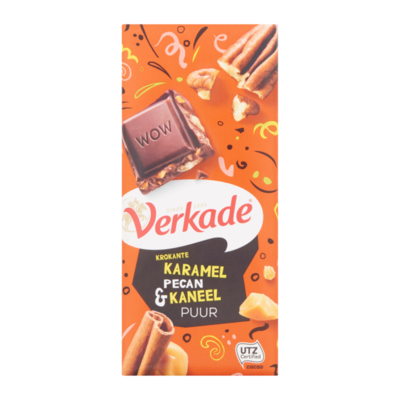 Verkade Krokante Karamel Pecan & Kaneel Puur