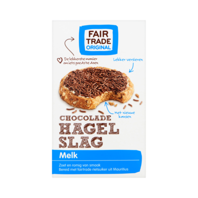 Fair Trade Original Chocolade Hagelslag Melk