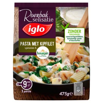 Iglo Roerbak Sensatie Pasta met Kipfilet Spinazie & Boursin 475 g