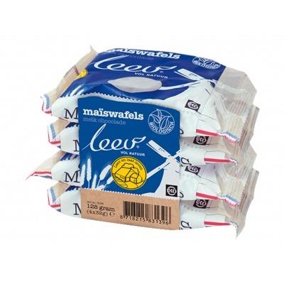 Leev Choco maiswafels melk