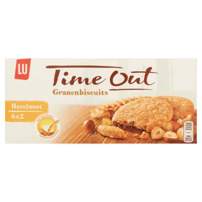 LU Time Out Granen Biscuits Hazelnoot 6 x 2 Koekjes 171 g