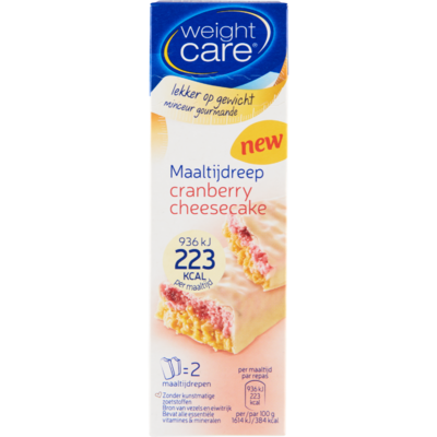 Weight Care Maaltijdreep Cranberry Cheesecake