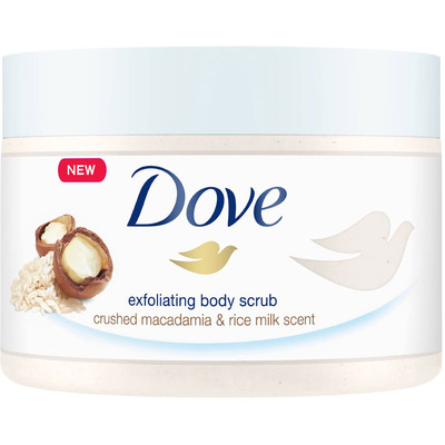 Dove Shower scrub macad & rice milk